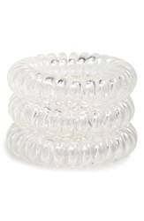 Invisibobble 'Power' Hair Tie White Set Of 3 Crystal Clear
