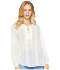 Bishop Young Moroccan Embroidered Blouse White