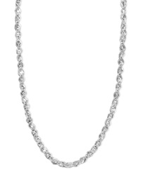 Macy's White Gold Necklace 14K White Gold 18' Perfectina Chain Necklace