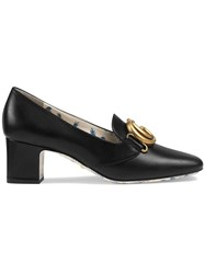 Gucci Double G Decorated Mid Heel Pumps Black