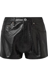 Re Done Leather Shorts Black