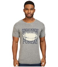 The Original Retro Brand Sunday Monday Funday Tri Blend Short Sleeve Tee Streaky Grey Men's T Shirt Pewter
