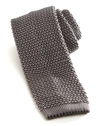 Charvet Knit Silk Tie Gray Grey