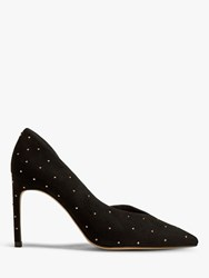 Ted Baker Daphned Stiletto Heel Suede Court Shoes Black