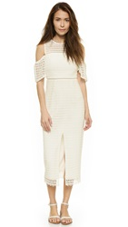 Cynthia Rowley Lace Dress With Slit White
