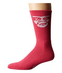 Obey Creeper Socks Magenta Men's Crew Cut Socks Shoes Pink