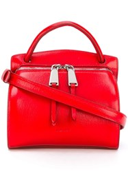 Jil Sander Double Zip Tote Red