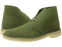Clarks Desert Boot Leaf Suede Men's Lace Up Boots Green