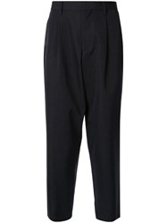Kolor Tailored Pleat Detailed Trousers Blue