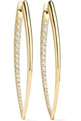 Melissa Kaye Cristina Xl 18 Karat Gold Diamond Earrings One Size