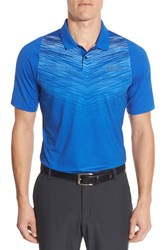 Nike Men's 'Tx Velocity Max Swing' Dri Fit Golf Polo Game Royal Reflective Silver
