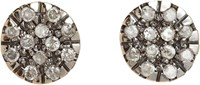 Fabrizio Riva Milky Diamond Circle Stud Earrings Colorless