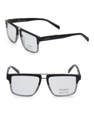 Balmain 59Mm Square Two Tone Eyeglasses Grey Fade