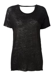 Thom Krom Open Back T Shirt Black