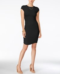 Bar Iii Cap Sleeve Bodycon Dress Only At Macy's Anthracite