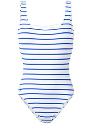 Polo Ralph Lauren Striped One Piece Women Nylon Polyester Spandex Elastane M White