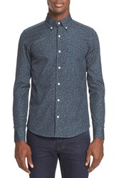 Saturdays Surf Nyc Men's Print Slim Fit Woven Shirt