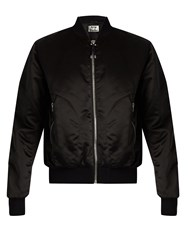 Acne Studios Azura Satin Bomber Jacket Black