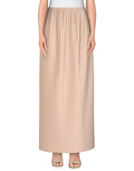 Msgm Long Skirts Beige