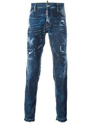 Dsquared2 'Cool Guy' Bleached Effect Jeans Blue