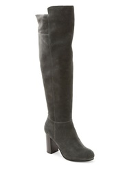 Kensie Ginette Suede Knee High Boots Grey
