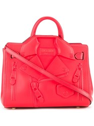 Moschino Biker Tote Red