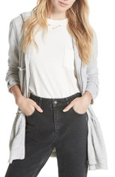 Free People Trapeze Hoodie Grey