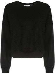Monreal London Boxy Sweatshirt Black