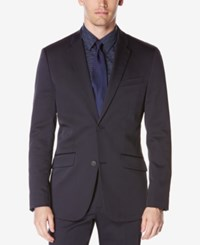 Perry Ellis Men's Extra Slim Fit Techno Jacket Navy
