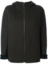 Jil Sander Hooded Jacket Green