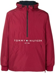 Tommy Hilfiger Padded Logo Anorak Red