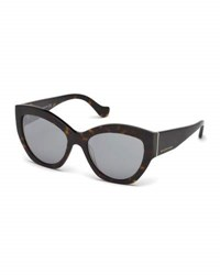 Balenciaga Chunky Mirrored Cat Eye Sunglasses Tortoise Multi