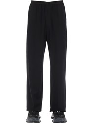 Balenciaga Viscose Blend Fluid Tailored Pants Black