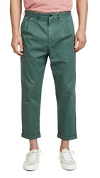Alex Mill Pleated Chino Trousers Faded Spruce