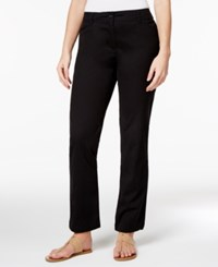 Karen Scott Straight Leg Pants Only At Macy's Deep Black