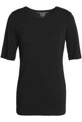 Majestic Stretch Jersey T Shirt Black
