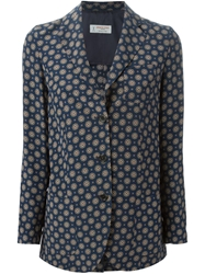 Alberto Biani Abstract Print Blazer