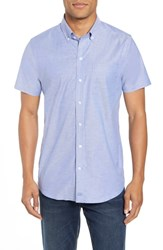 Cutter And Buck Tailor Regular Fit Oxford Sport Shirt French Blue