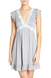 Betsey Johnson Women's Short Nightgown Grey Heather Betty Blue