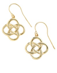 Lord And Taylor 18 Kt Gold Over Sterling Silver Celtic Knot Drop Earrings