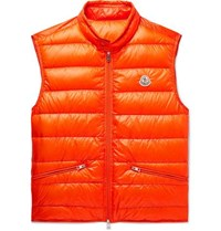 Moncler Quilted Shell Down Gilet Orange