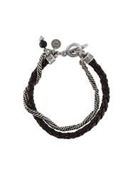 Eleventy Double Stranded Bracelet Brown