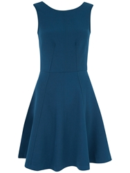 Almari V Back Panel A Line Dress Teal