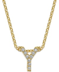 Giani Bernini Cubic Zirconia Initial Pendant Necklace Gold Y