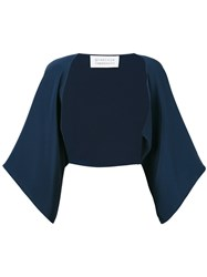 Gianluca Capannolo Loose Sleeve Bolero Women Silk 44 Blue