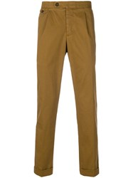 Jeckerson Cuff Tapered Trousers Brown