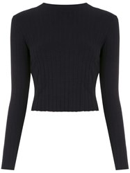 Osklen Ribbed Cropped Top Black