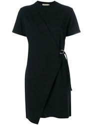 Maison Kitsune Short Sleeved Wrap Dress Black