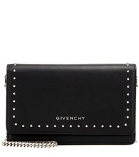 Givenchy Pandora Chain Leather Shoulder Bag Black