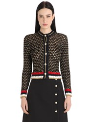 Gucci Heavy Cotton And Lurex Blend Cardigan